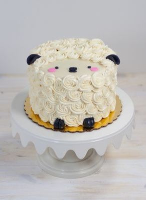 ANIMALS CREAM SERIES - CREAM ART CAKE - Sheep design 07