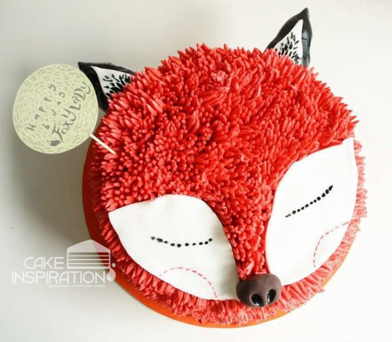 ANIMALS CREAM SERIES - CREAM ART CAKE - Fox design 09