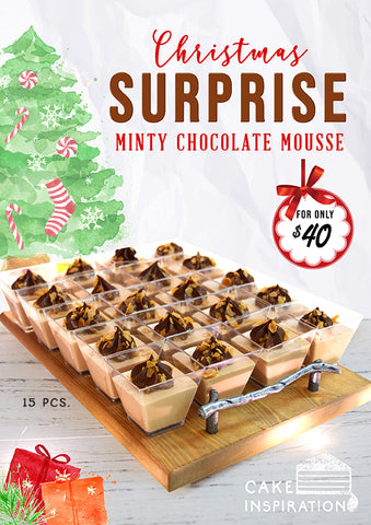 shooter glass series , Christmas Minty Chocolate Mousse delights , Christmas 15 pack specials