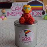 Design A /IRON MAN CUTE AVENGERS TOPPER CREAM CAKE   - Children Customized D-I-Y cream art cake topper series .