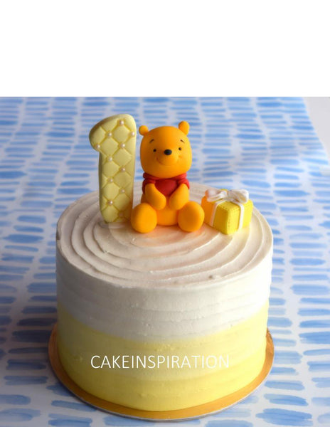 Design H / POOH BEAR TOPPER CREAM CAKE   - Children Customized D-I-Y cream art cake topper series .