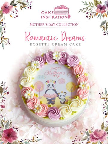 MOM & ME Mother's day 2019 collection - Design B ROMANTIC DREAMS ( Pink Lavender White Rosette Design )
