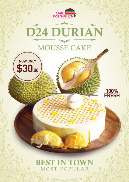 D24 Premium Durian Cake (Best Seller)