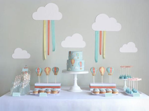 dessert table COLLECTION / HOT AIR BALLOON THEME PROPOSAL / SKY BLUE