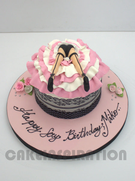 CUSTOMIZED naughty adult COLLECTION /3d collection / hens night upskirt round cake