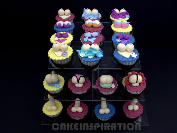 CUSTOMIZED naughty adult COLLECTION /3d/ assorted cupcakes