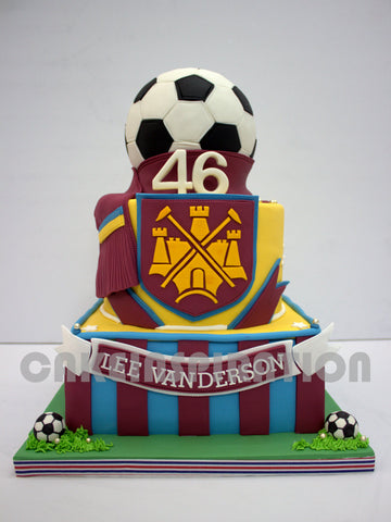 CUSTOMIZED 3d COLLECTION /corporate / soccer theme 3d cake with soccer boots and towel  ball