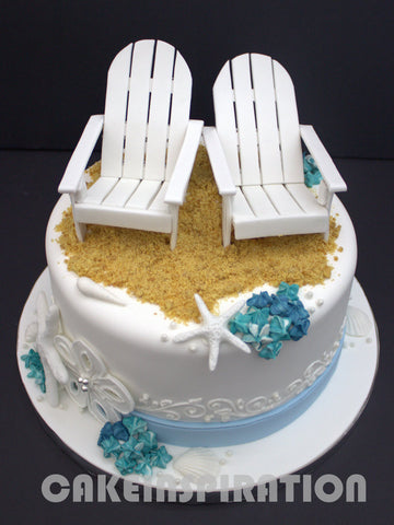 CUSTOMIZED family / corporate COLLECTION / wedding collection / Cool beach chairs CUSTOM CAKES