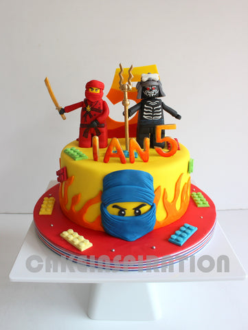 CUSTOMIZED CHILDREN COLLECTION / ninja theme cake singapore / cake for boys
