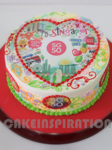CUSTOMIZED cake COLLECTION / national day cake singapore / buttercream Heart shape cake