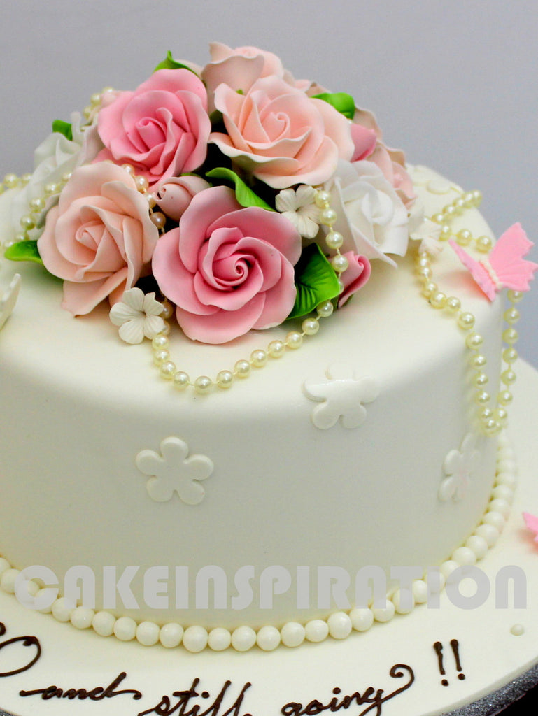 High Quality CUSTOMIZED WEDDING COLLECTION / 1 Tier White Elegant Wedding Cake With U2013  CAKEINSPIRATION
