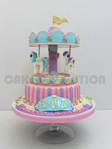 CUSTOMIZED CHILDREN COLLECTION /3d   carousel ponies cake singapore / circus theme cake