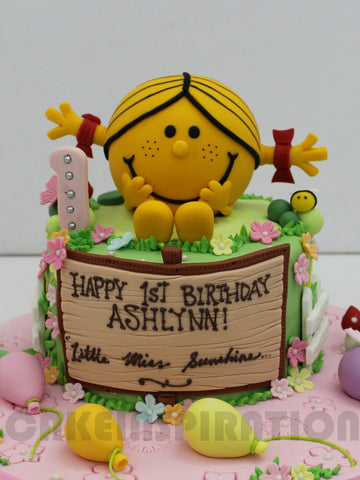 CUSTOMIZED CHILDREN COLLECTION /3d  / little miss cute sunshine theme cake /girl