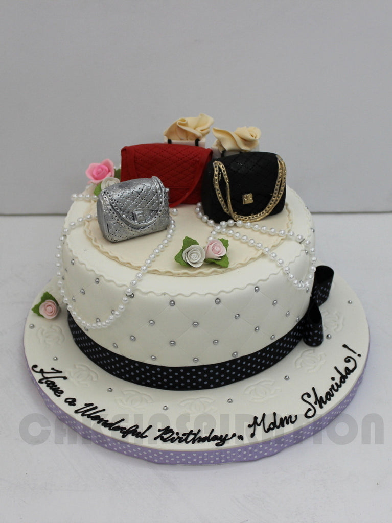 Customized 3d Collection Fashion Designer Bag Theme Cake