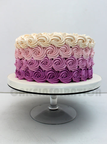 CUSTOMIZED WEDDING COLLECTION / TEEN ombre purple detail rosette cake / 21st birthday