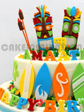 children COLLECTION / tiki gods hawaii style surf board 3d cake teens cake