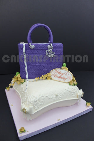 3d cake COLLECTION / corporate collection/ Cd  fashion bag over a classic pillow style 3d cake