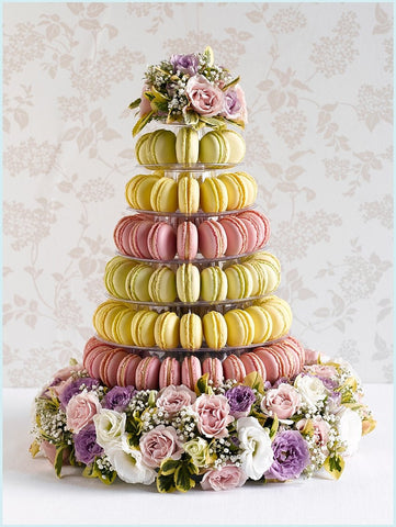 CUSTOMIZED DESSERT COLLECTION / MACARON TOWER 10 TIERS ASSORTED COLORS FOR WEDDING DISPLAY