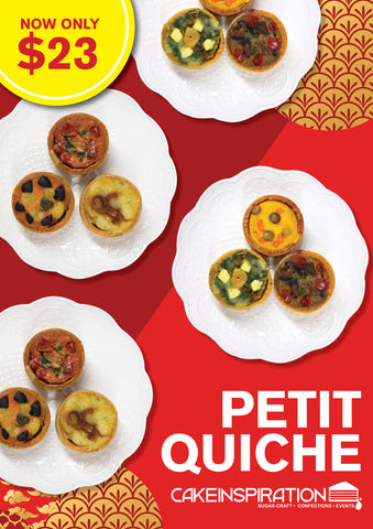 CNY Assorted Petit Quiche (Vegetable Tarts)