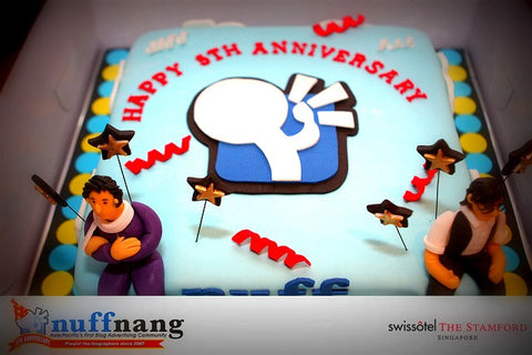 corporate collection /Nuff Nang Annversary cake feature local Bloggers/ blogger anniversary cake