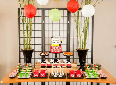 CUSTOMIZED dessert table COLLECTION / NINJA THEME PROPOSAL / SAMURAI / NINJA THEMEDESSERT TABLE