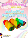 Rainbow Swiss Roll Strawberry Delights ( EACH roll 400GM , 6 SLICE per roll )