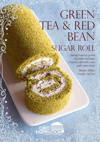 Green Tea & Red Bean Sugar Roll