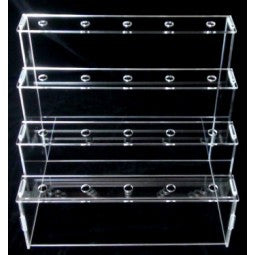 RENTAL / DISPLAY 4 TIER GLASS RECTANGULAR 20 PCS CAKE POP STAND / TRANSPARENT