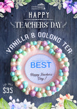 TEACHERS' DAY 2018 COLLECTION - OOLONG TEA PASTEL STARS (NEW FLAVOR )   ROSETTE DESIGN 3