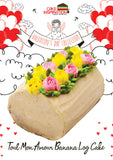 "Tout Mon Amour ""All My Love"" Banana Valentine Log Cake"