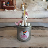 Design D/RAINBOW UNICORN CUTE LITTLE PONY TOPPER CREAM CAKE   - Children Customized D-I-Y cream art cake topper series .