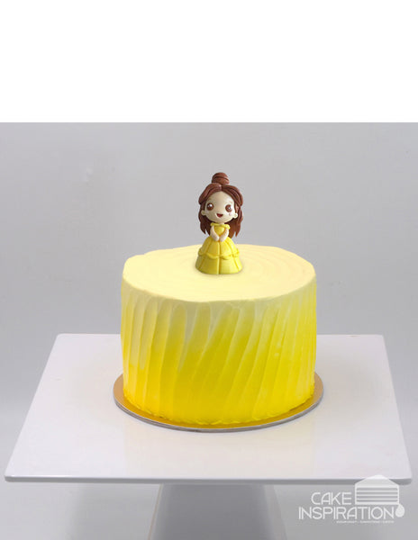 Design L  / CUTE PRINCESS BELLE CREAM CAKE    - Children Customized D-I-Y cream art cake topper series .