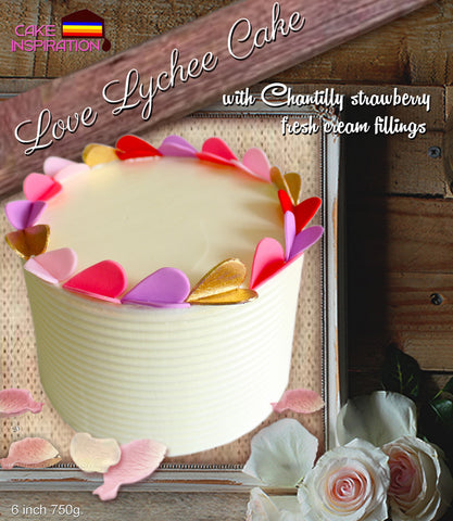 Romantic pastel love chantilly strawberry Lychee valentine series/ Cake for Mum/Valentine