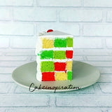 CHRISTMAS CHECKERED PERPERMINT CAKE