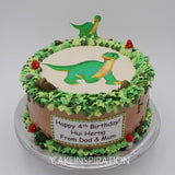 Surface 2D Art Photocake  Cake Collection .Design 4. edible design print cake Singapore .Dinosaur 2D photocake  theme design cake