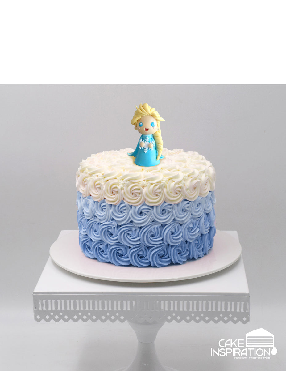 Design I 1 Frozen Elsa Cute Topper Cream Cake Children