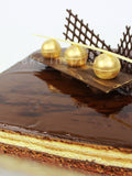 cake for dad / Opera Cake - top of the range premium french choc cake .
