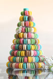 CUSTOMIZED DESSERT COLLECTION / MACARON TOWER 10 TIERS ASSORTED COLORS / BRIGHT COLOR VERSION