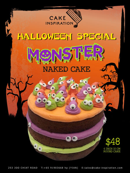 Monster Naked Cake - deluxe rich creamy carrot cake with cream cheese