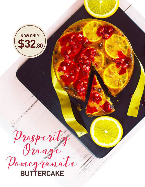 Prosperity Orange Pomegranate Buttercake
