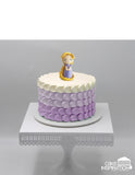 Design J / CUTE PRINCESS RAPUNZEL CREAM CAKE    - Children Customized D-I-Y cream art cake topper series .