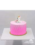 Design C/PINK UNICORN CUTE LITTLE PONY TOPPER CREAM CAKE   - Children Customized D-I-Y cream art cake topper series .