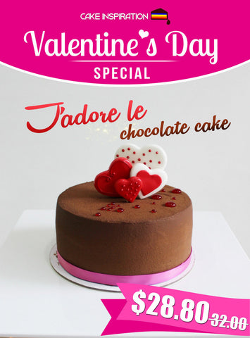J'adore Strawberry Chocolate Cake ( 6 Inch Round 750gm) / cake for mum / Valentine