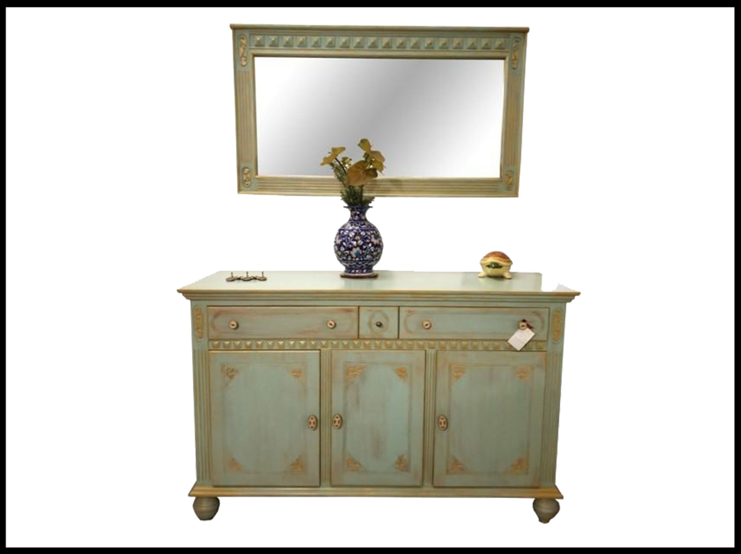 Cheddar Chest & Mirror (with mirror)