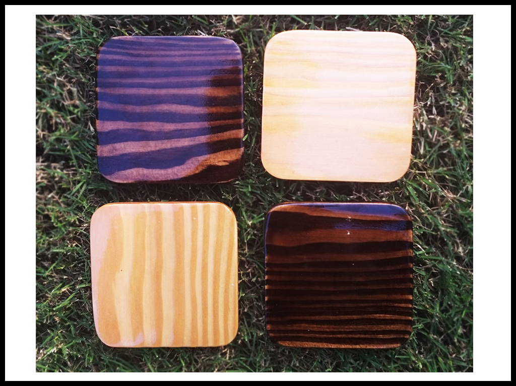 Coaster Hemlock Wood (set of 4)
