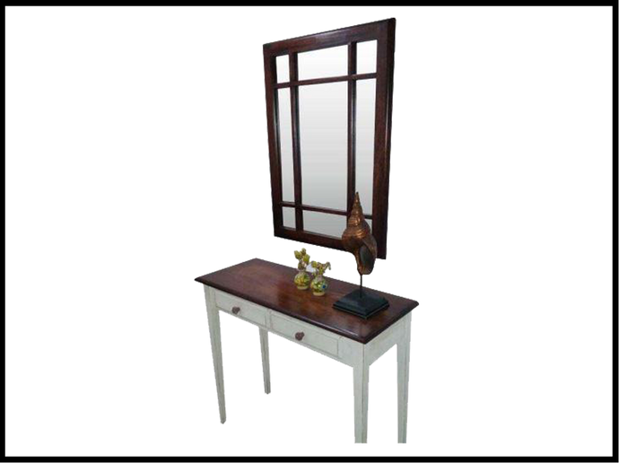 Country 2 Drawer Console (with mirror)