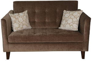 Brown Quilted Sofa