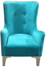 Load image into Gallery viewer, Blue Wing Chair