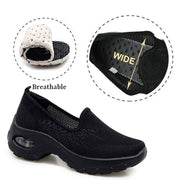 womens black slip on sneakers