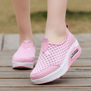 Women's leisure cushion breathable platform tennis sneakers